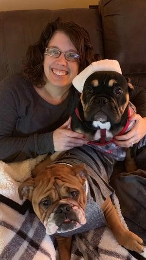 Bobbi Jo with dogs